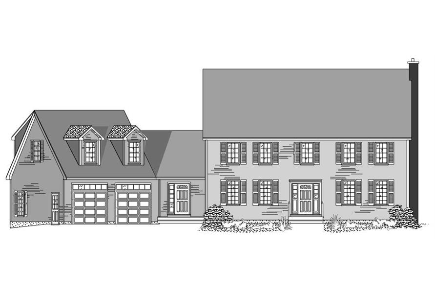 Front elevation for Country Houseplans.