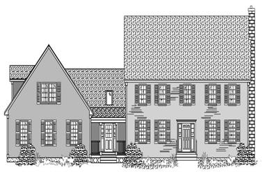 4-Bedroom, 2616 Sq Ft Country Home Plan - 110-1072 - Main Exterior
