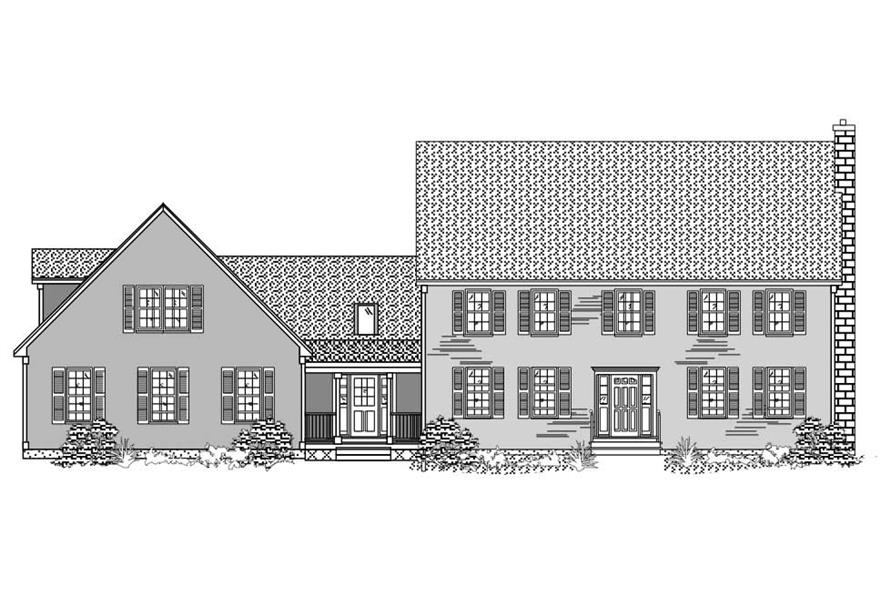 Black and White images are the best for this set of Country Home Plans.