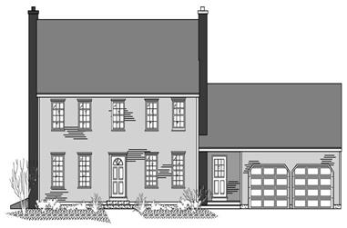 3-Bedroom, 2180 Sq Ft Colonial Home Plan - 110-1073 - Main Exterior