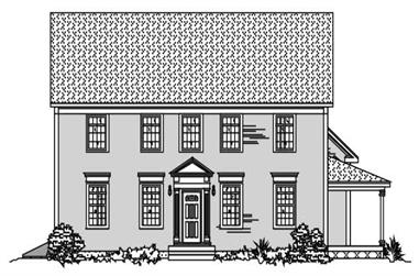 4-Bedroom, 3339 Sq Ft Colonial Home Plan - 110-1074 - Main Exterior