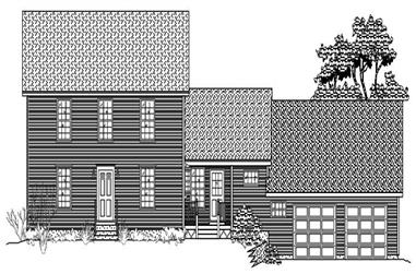 4-Bedroom, 2655 Sq Ft Traditional Home Plan - 110-1075 - Main Exterior