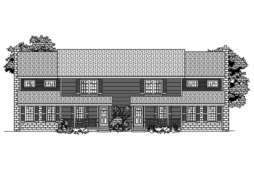 3-Bedroom, 3652 Sq Ft Multi-Unit Home Plan - 110-1078 - Main Exterior