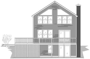 1-Bedroom, 1058 Sq Ft Small House Plans - 110-1080 - Front Exterior