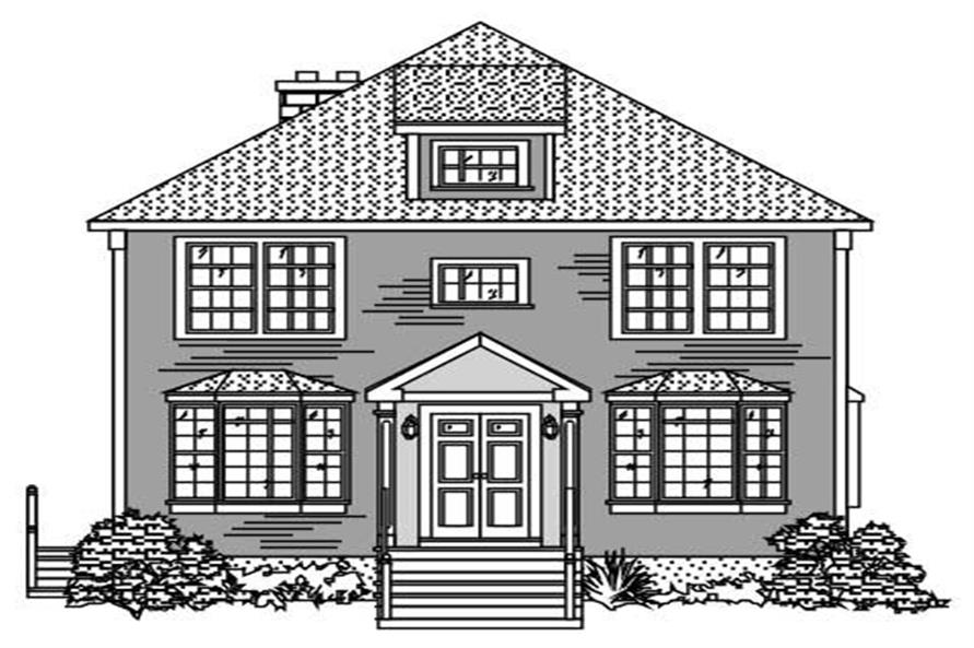 This is a lousy front elevation for these Craftsman House Plans.
