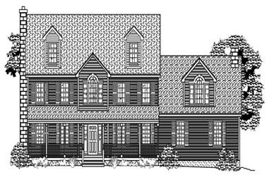 4-Bedroom, 3842 Sq Ft Country House Plan - 110-1083 - Front Exterior