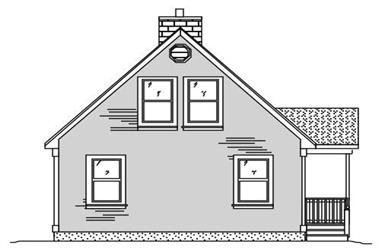 1-Bedroom, 1013 Sq Ft Small House Plans - 110-1084 - Main Exterior