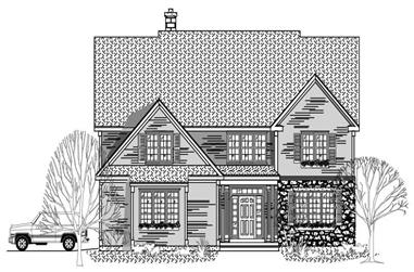 3-Bedroom, 2893 Sq Ft Country House Plan - 110-1085 - Front Exterior