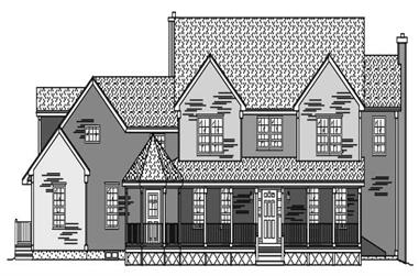 4-Bedroom, 3521 Sq Ft Country House Plan - 110-1089 - Front Exterior