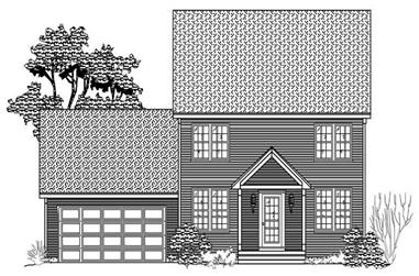 3-Bedroom, 3024 Sq Ft Traditional House Plan - 110-1093 - Front Exterior