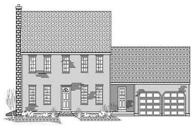 3-Bedroom, 2180 Sq Ft Colonial Home Plan - 110-1094 - Main Exterior