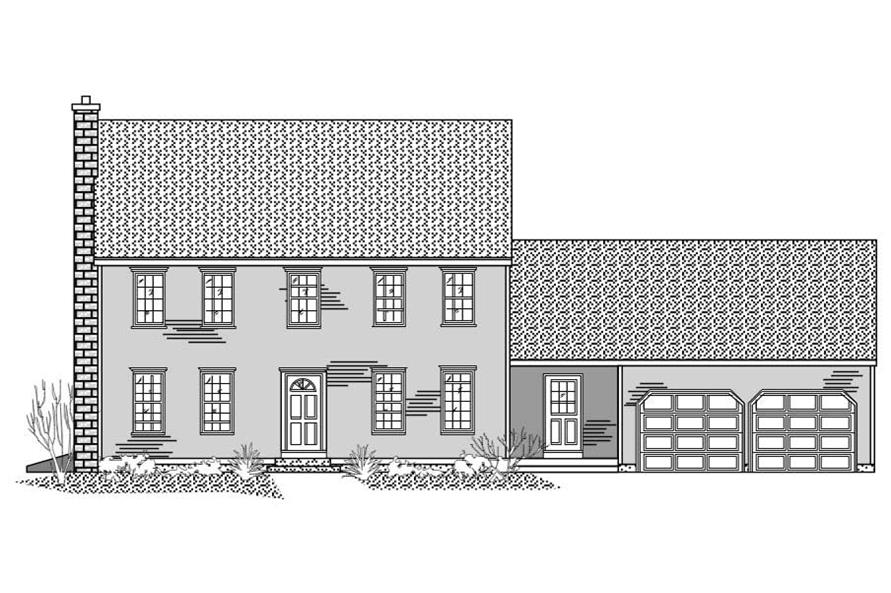 Colonial Houseplans need front elevations too, here is this one.