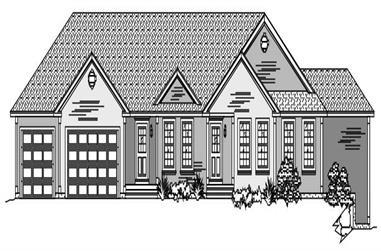 3-Bedroom, 2285 Sq Ft Ranch Home Plan - 110-1096 - Main Exterior