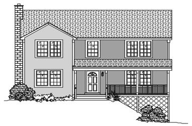 3-Bedroom, 1846 Sq Ft Country Home Plan - 110-1097 - Main Exterior