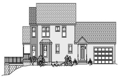 3-Bedroom, 2368 Sq Ft Cape Cod House Plan - 110-1099 - Front Exterior