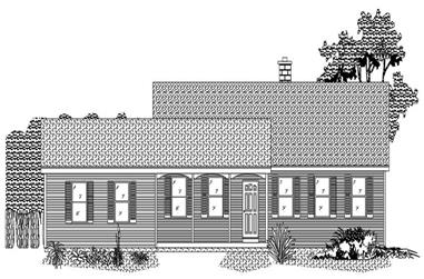 2-Bedroom, 1288 Sq Ft Ranch Home Plan - 110-1101 - Main Exterior