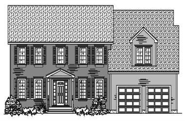3-Bedroom, 2459 Sq Ft Colonial Home Plan - 110-1102 - Main Exterior