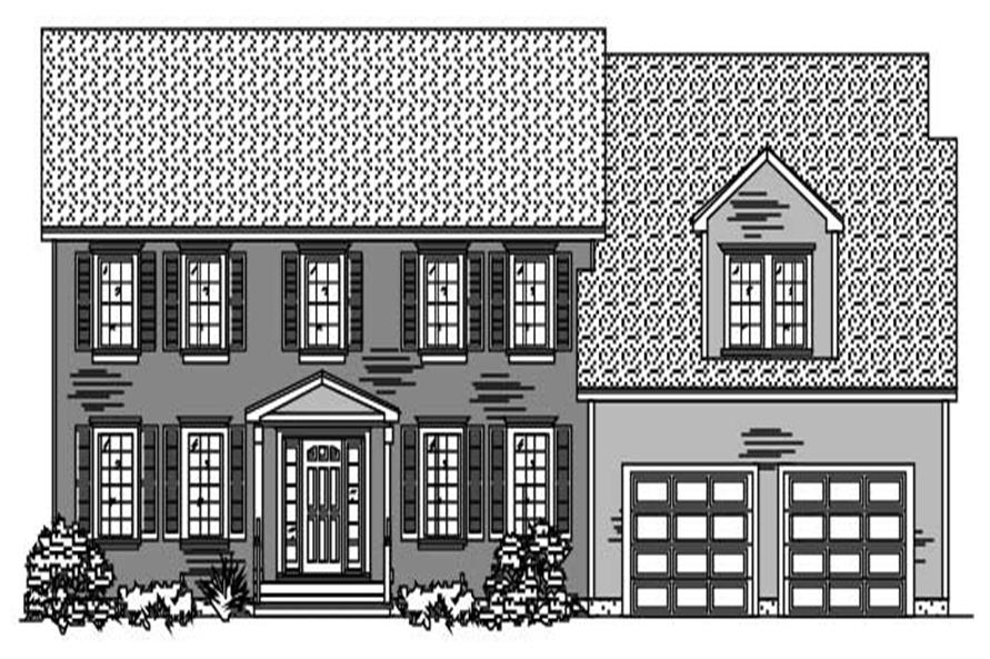 This is the black and white rendering of these Colonial Homeplans.