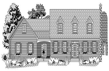 3-Bedroom, 2964 Sq Ft Country Home Plan - 110-1104 - Main Exterior