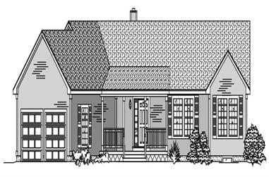 3-Bedroom, 1538 Sq Ft Ranch House Plan - 110-1106 - Front Exterior