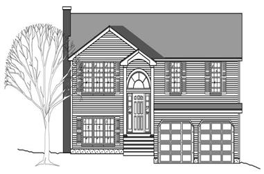 3-Bedroom, 1781 Sq Ft Country House Plan - 110-1109 - Front Exterior