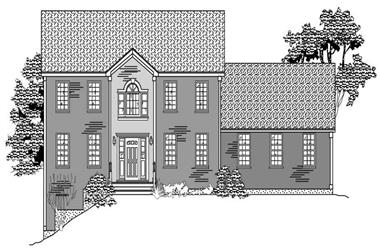 4-Bedroom, 2747 Sq Ft Colonial House Plan - 110-1110 - Front Exterior