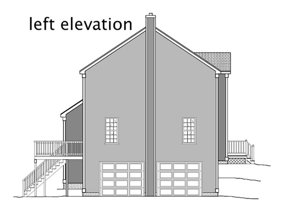 110-1110: Home Plan Left Elevation