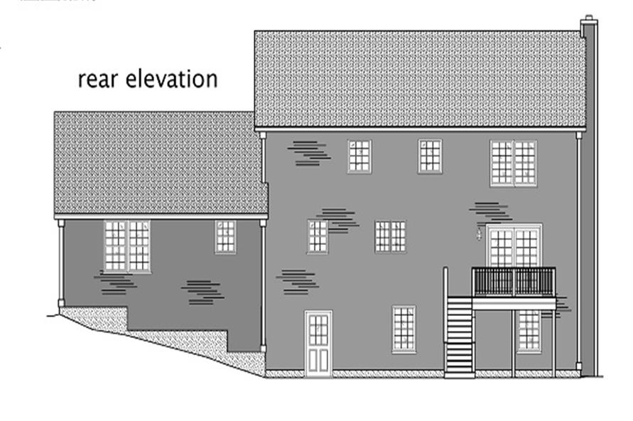 Home Plan Rear Elevation of this 4-Bedroom,2747 Sq Ft Plan -110-1110