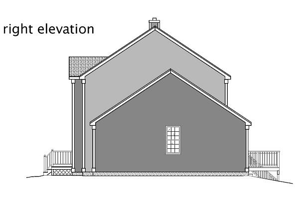 110-1110: Home Plan Right Elevation