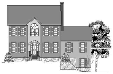 4-Bedroom, 2728 Sq Ft Colonial House Plan - 110-1111 - Front Exterior