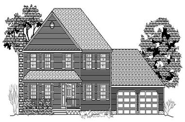 4-Bedroom, 2434 Sq Ft Country House Plan - 110-1113 - Front Exterior