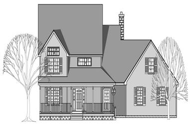 3-Bedroom, 2095 Sq Ft Country Home Plan - 110-1114 - Main Exterior