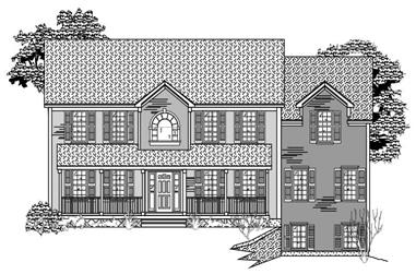 3-Bedroom, 3043 Sq Ft Country House Plan - 110-1115 - Front Exterior