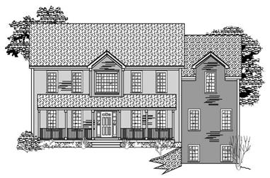 4-Bedroom, 3067 Sq Ft Country Home Plan - 110-1116 - Main Exterior