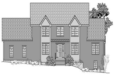3-Bedroom, 2043 Sq Ft Country House Plan - 110-1118 - Front Exterior