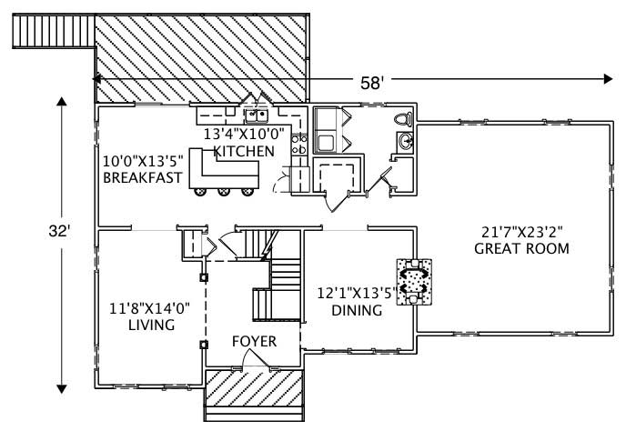 European traditional home with 4 bedrms 3016 sq ft for 1120 westchester place floor plan
