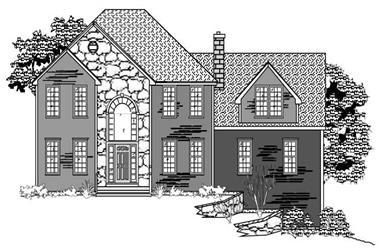 4-Bedroom, 3016 Sq Ft European House Plan - 110-1120 - Front Exterior