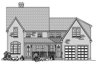 4-Bedroom, 3024 Sq Ft Country Home Plan - 110-1122 - Main Exterior