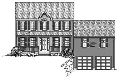3-Bedroom, 1596 Sq Ft Country Home Plan - 110-1123 - Main Exterior