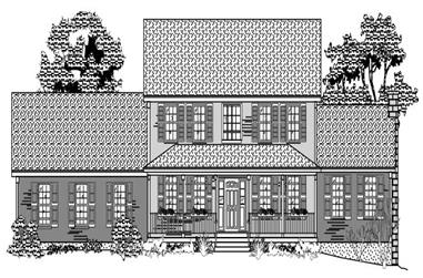 3-Bedroom, 2278 Sq Ft Country House Plan - 110-1124 - Front Exterior