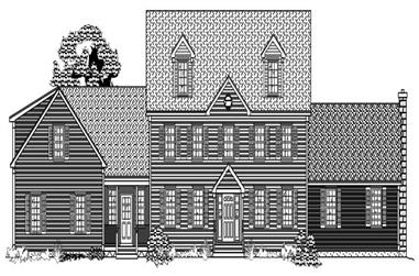 4-Bedroom, 3534 Sq Ft Country House Plan - 110-1125 - Front Exterior
