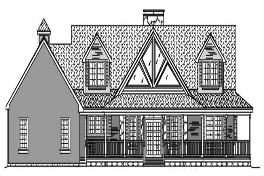 3-Bedroom, 4419 Sq Ft Country House Plan - 110-1126 - Front Exterior