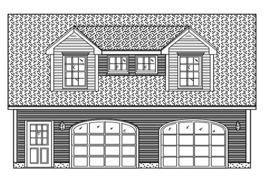 1-Bedroom, 630 Sq Ft Garage w/Apartments Home Plan - 110-1128 - Main Exterior