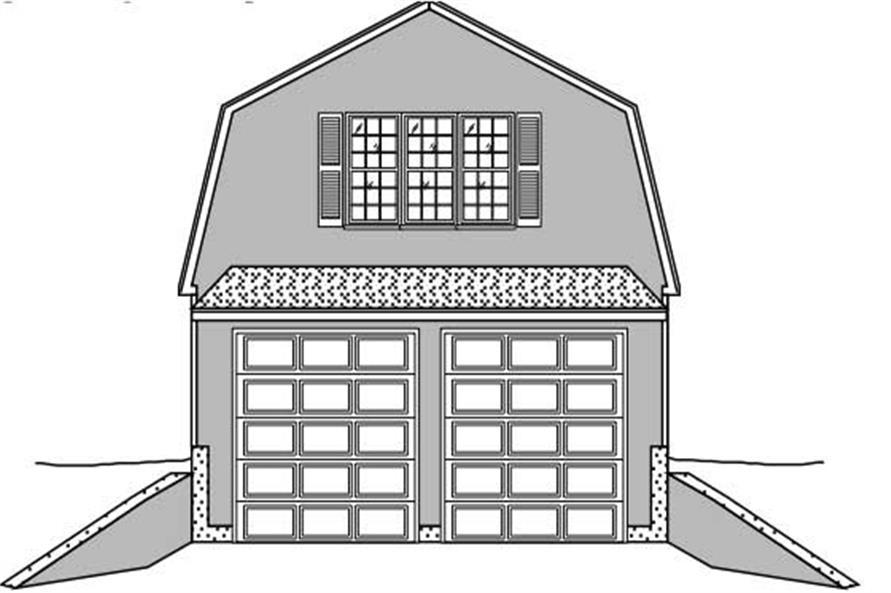 0-Bedroom, 600 Sq Ft Garage Home Plan - 110-1130 - Main Exterior