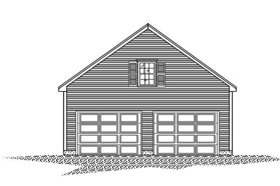 Front elevation of Garage plan (ThePlanCollection: House Plan #110-1131)