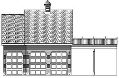 0-Bedroom, 1 Sq Ft Garage House Plan - 110-1132 - Front Exterior