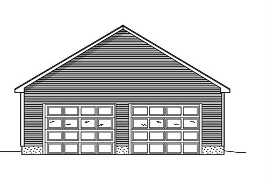 Front elevation of Garage home (ThePlanCollection: House Plan #110-1133)