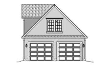 This is a front elevation for these garage plans.