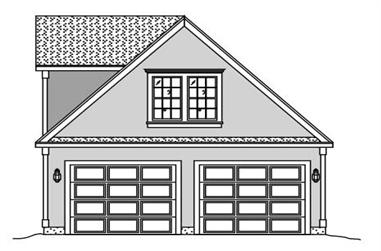 Rendering of Garage w/Apartment home (ThePlanCollection: House Plan #110-1134)