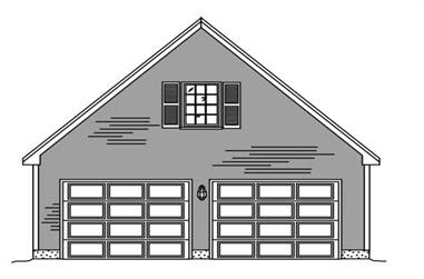2-Car, 330 Sq Ft Garage Home Plan - 110-1136 - Main Exterior